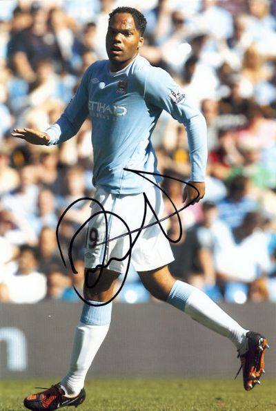 Joleon Lescott Autograph Signed Photo - Manchester City